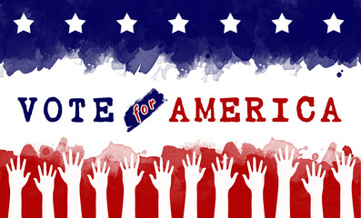 vote for America, election concept