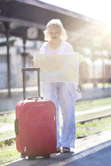 Journey Series: Senior Woman Traveling by Train