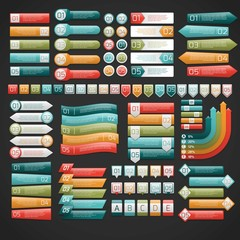 Colorful infographic labels