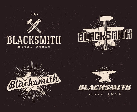 blacksmith logos labels