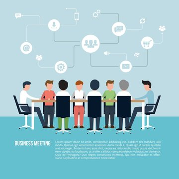 Business meeting infographic
