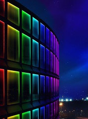 facade building night light using led