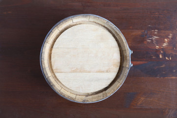 Oak Barrel Top View