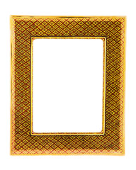 Picture frame retro on wall for background