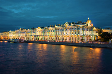 View on the Winter Palace, St. Petersburg, Russia