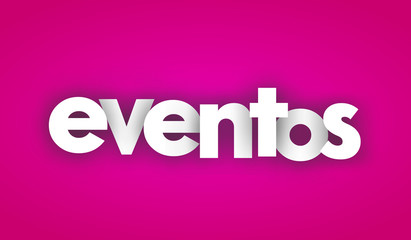 events letters vector word banner sign