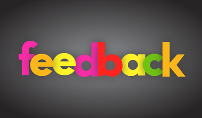 feedback letters vector word banner sign