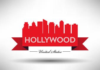 Vector Hollywood City Skyline Design