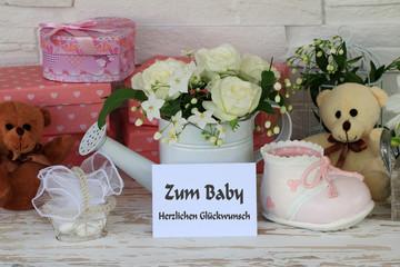 Fototapete - Glückwunsch zum Baby