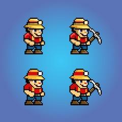 funny adventure game pixel art character