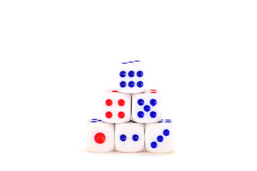 Dices for play game, business concept