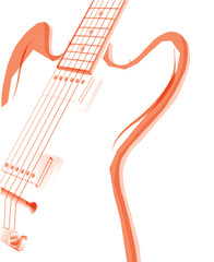 Abstract Red Guitar Background