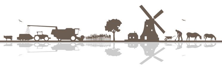Silhouette Landwirtschaft