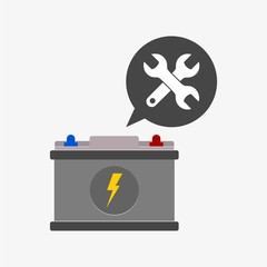 Battery icon design, vector illustration