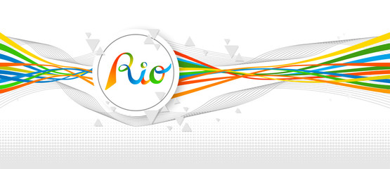 Rio Brazil color banner design with abstract art