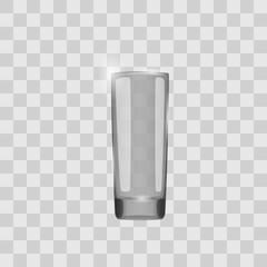 Empty glass, vector illustration.