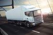 Detaily fotografie Truck on a sea bridge 3D Rendering