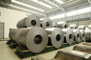 Strip steel production workshop