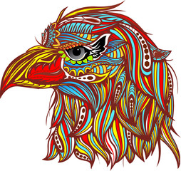 Eagle head zentangle stylized. Vector Hand Drawn sketch for tattoo design or makhenda.