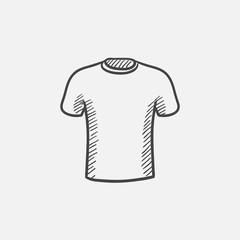 Male t-shirt sketch icon.