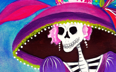 Day of the Dead Catrina Skeleton