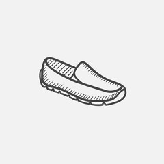 Male shoe sketch icon.