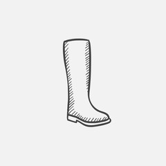 High boot sketch icon.