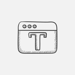 Design editor tool sketch icon.