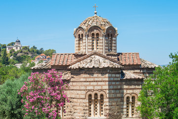 Beautiful churches in the Ancient Agora of Athens, Greece.