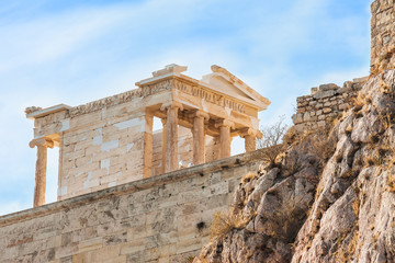 The temple of Athena Nike in Acropolis of Athens, Greece.