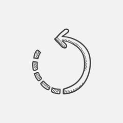 Refresh arrow sketch icon.