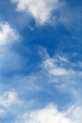 Tuinposter Aan het plafond Cloudscape with Sky and Clouds Background