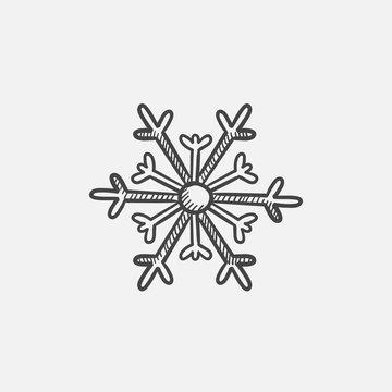 Snowflake sketch icon.