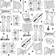 Music set doodles element