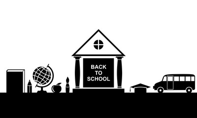 Back to school greeting banner
