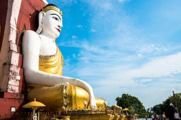 Sitting Buddha Statues at Kyaik Pun Paya in Bago