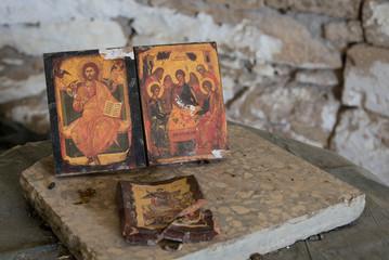 Christan saint paintings on wood