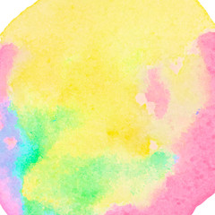 Watercolor abstract textured canvas for colorful advert, vector background