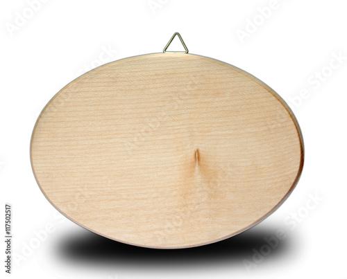 T rschild holz oval zum beschriften photo libre de - Holz beschriften ...