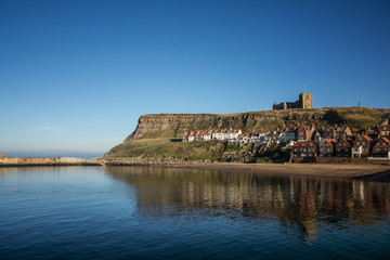 Whitby seaview in Yorkshire, England the UK
