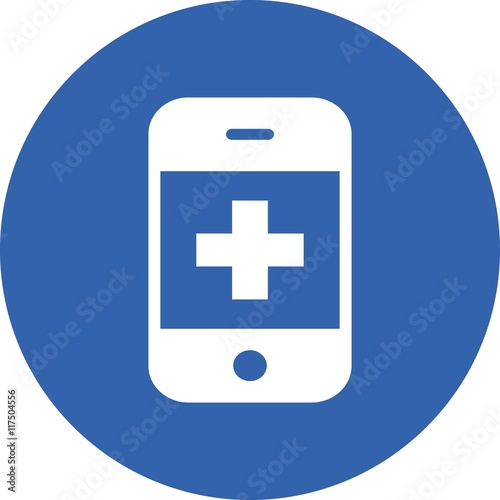 First Aid Icon Emergency Response Mobile Phone Medicine Medical Telemedicine Telephone Safety Smartphone Doctor Care Hospital