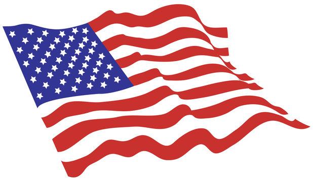 American flag vector color