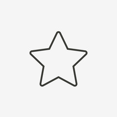 star outline icon