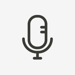 microphone line icon