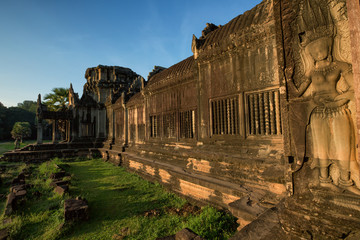 Angkor Wat - Archeological park temple. Monument of Cambodia