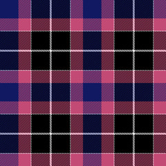 Pink blue check plaid seamless fabric texture