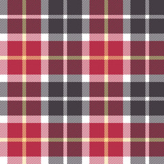 Red and gray check flanel plaid seamless