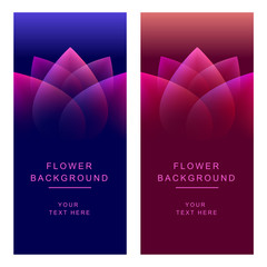 Vector abstract flower background banners