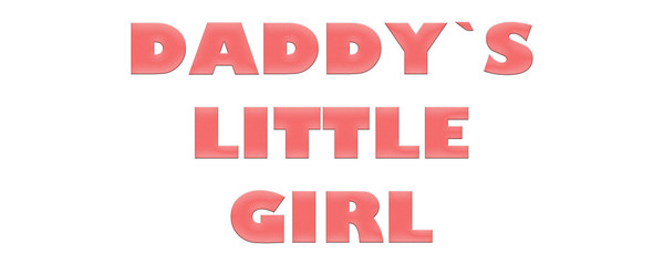 Word Daddy`s little Girl with colorful letters