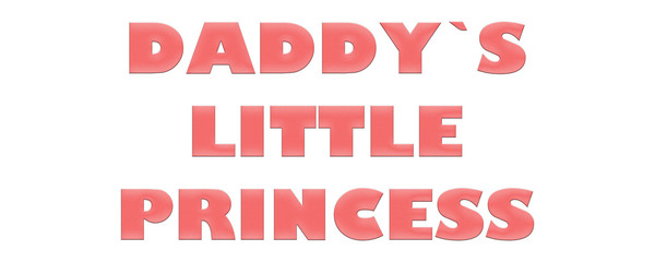 Word Daddy`s little Princess with colorful letters